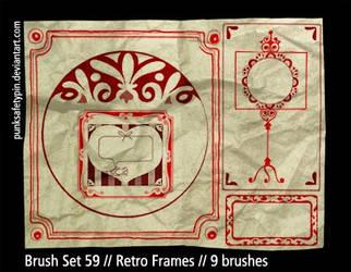 Brush Set 59 - Retro Frames by punksafetypin