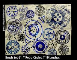 Brush Set 61 - Retro Circles by punksafetypin