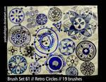 Brush Set 61 - Retro Circles