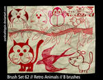 Brush Set 62 - Retro Animals