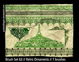 Brush Set 63 - Retro Ornaments by punksafetypin