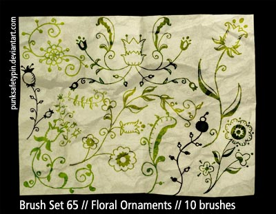 Brush Set 65 - FloralOrnaments