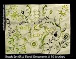 Brush Set 65 - FloralOrnaments by punksafetypin