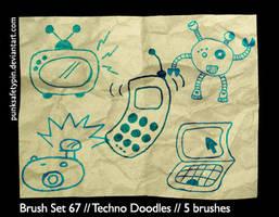 Brush Set 67 - Techno Doodles by punksafetypin