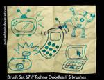 Brush Set 67 - Techno Doodles