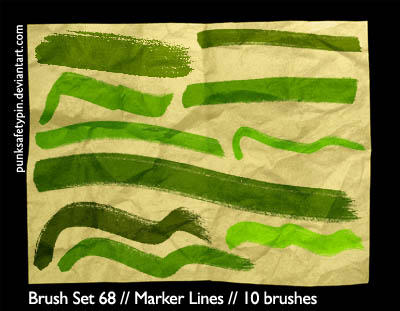 Brush Set 68 - Marker Lines by punksafetypin