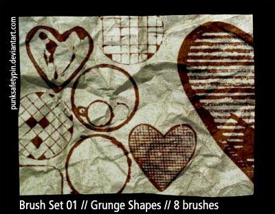 Brush Set 01 - Grunge Shapes