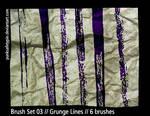 Brush Set 03 - Grunge Lines