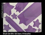 Brush Set 09 - 3D Stars