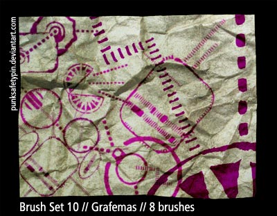 Brush Set 10 - Grafemas