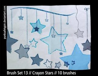 Brush Set 13 - Crayon Stars by punksafetypin