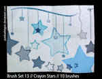 Brush Set 13 - Crayon Stars