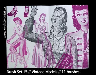 Brush Set 15 - Vintage Models