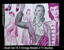 Brush Set 15 - Vintage Models by punksafetypin