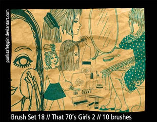 Brush Set 18 - That 70s Girls by punksafetypin