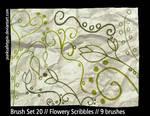 BrushSet20 - Flowery Scribbles