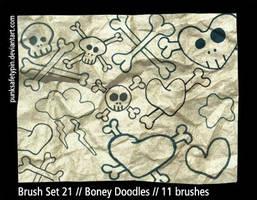 Brush Set 21 - Boney Doodles by punksafetypin