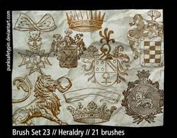 Brush Set 23 - Heraldry by punksafetypin