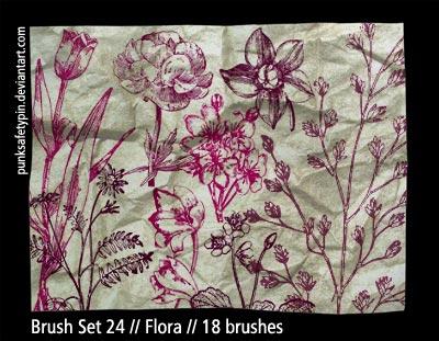 Brush Set 24 - Flora