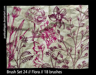 Brush Set 24 - Flora by punksafetypin