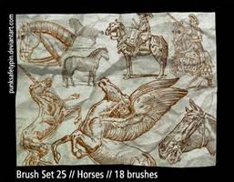 Brush Set 25 - Horses by punksafetypin