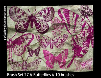 Brush Set 27 - Butterflies by punksafetypin
