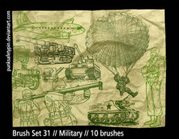 Brush Set 31 - Military by punksafetypin