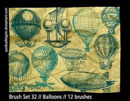 Brush Set 32 - Balloons by punksafetypin