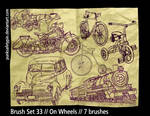 Brush Set 33 - On Wheels