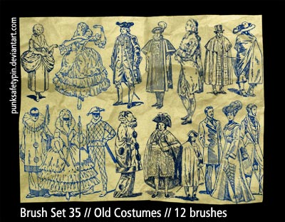 Brush Set 35 - Old Costumes