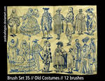 Brush Set 35 - Old Costumes