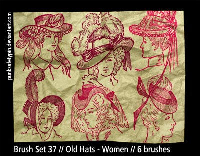 Brush Set 37 - Old Hats-Women by punksafetypin