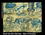Brush Set 38 - Old Hats-Men