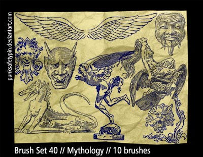 Brush Set 40 - Mythology by punksafetypin