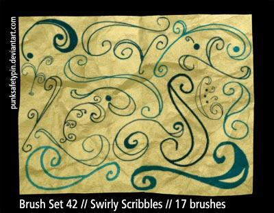 Brush Set 42 - SwirlyScribbles