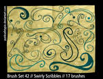 Brush Set 42 - SwirlyScribbles