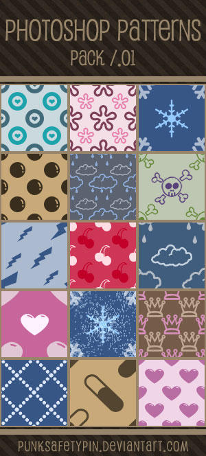 Photoshop Patterns - Pack 01 by punksafetypin