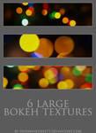 6 large bokeh textures