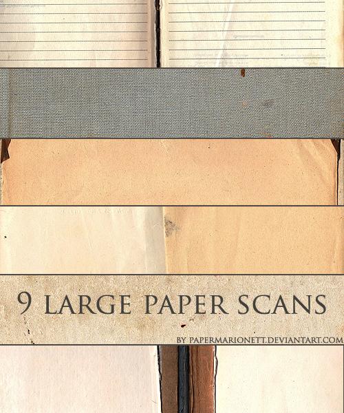 9 large paper scans