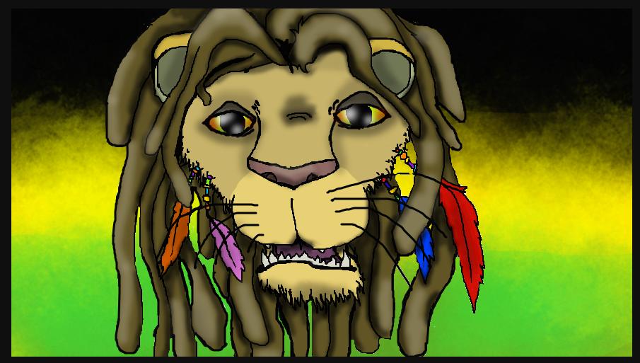 Rasta Lion by Cheeseburger911