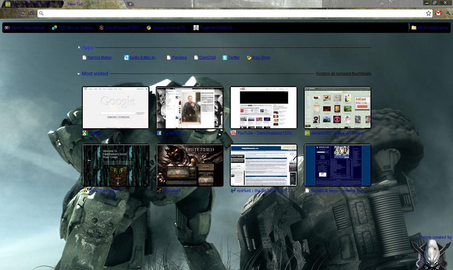 Google themes editor - Halo Google Chrome Theme By Darkshadowp133 Halo Google Chrome Theme By Darkshadowp133