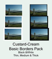 Basic Borders Pack by Custard-Cream