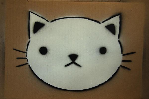 CatFace Stencil by Custard-Cream