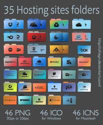 Mega Pack Folder Icon - 35 Hosting sites by uFregn
