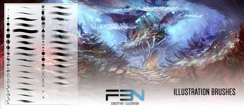 F3N - Illustration Brushes by DeanOyebo