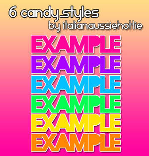 6 CandyFun Styles