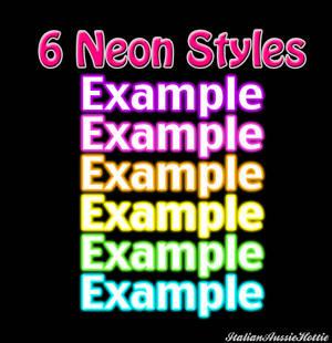 6 Neon Styles