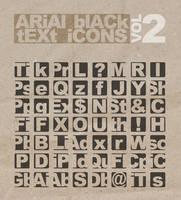Arial Black Text Icons by likeOMFGitsJONNY