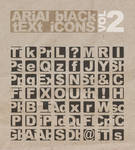 Arial Black Text Icons