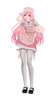 Pink Maid MMD ( DOWNLOAD )